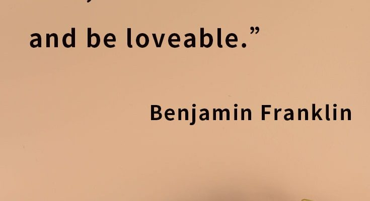 If you would be loved, love, and be loveable.