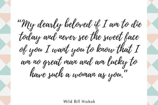 My dearly beloved if I am to die today and never see the sweet face of you I want you to know that I am no great man and am lucky to have such a woman as you.