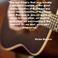 """""""The cool thing is that jazz is really a wonderful example of the great characteristics of Buddhism and great characteristics of the human spirit. Because in jazz we share, we listen to each other, we respect each other, we are creating in the moment. At our best, we're non-judgmental."""" Herbie Hancock"""