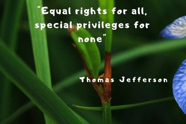 Equal rights for all, special privileges for none