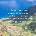 """It is curious that physical courage should be so common in the world and moral courage so rare."" Mark Twain"