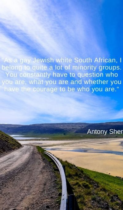 As a gay Jewish white South African, I belong to quite a lot of minority groups
