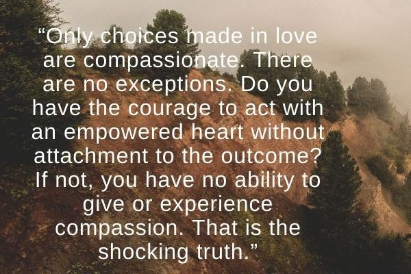 Only choices made in love are compassionate